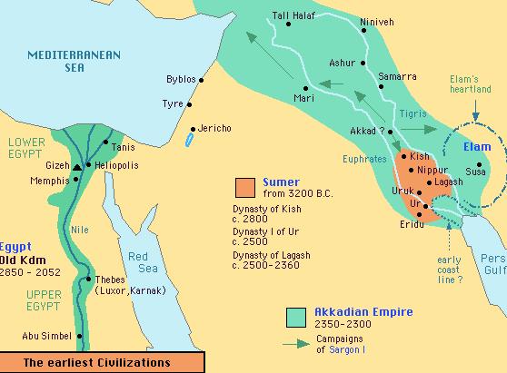 Sumer Akkadia map