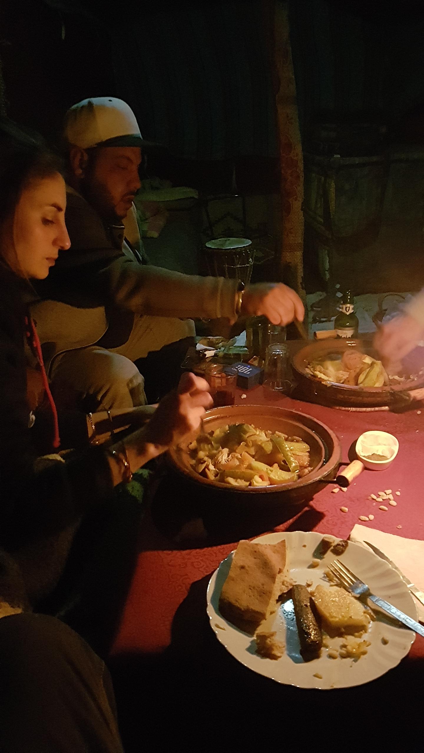 Alex and Salah desert camp